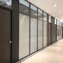 83款办公室玻璃隔断,防火钢板隔断,双玻百叶隔断型材批发