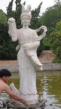 汉白玉古代人物雕塑古代美女仕女雕塑厂家图片