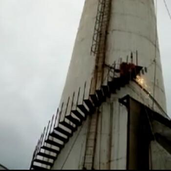 九江烟囱旋转梯安装