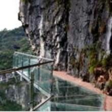 景区玻璃吊桥安装厂家为您讲述吊桥玻璃碎了怎么办图片