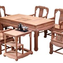 东阳红木龙腾茶台缅甸花梨木图片