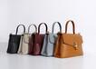 廣州女包新品編織鎖頭手提大容量女包PU雙色料大牌OEM訂制
