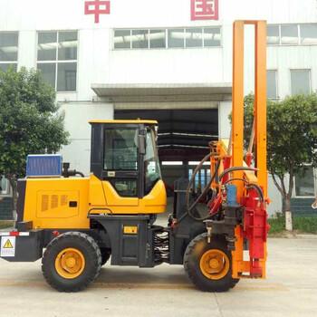 新款装载机式护栏打桩机小型打桩机厂家直销