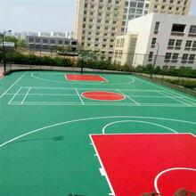 深圳宝安塑胶篮球场施工公司图片