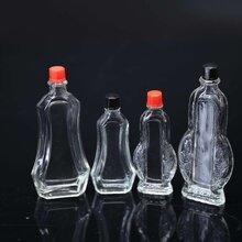 60ml玻璃瓶黄道益四方玻璃瓶蜂蜜瓶白酒瓶玻璃100ml酒瓶图片