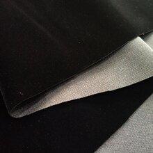 黑色单面植绒布绒布图片