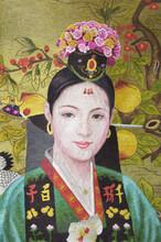 朝鲜国家著名功勋艺术家金仁淑______刺绣图片