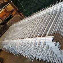 广优游注册平台电缆厂锌钢围墙护栏白色三横栏护栏图片