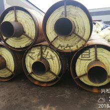 钢套钢预制蒸汽保温管钢套钢埋地保温管图片