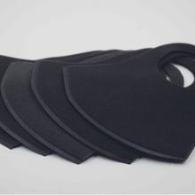 明星同款防霧霾防塵黑色水洗定制LOGO特價立體海綿版時尚日版口罩圖片