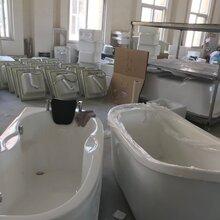 帝风唐亚克力普通浴缸单人裙边带扶手浴缸1.35/5/6/7米工程浴缸图片