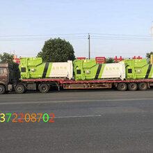 湖北新中绿生产的18方移动垃圾压缩站大批量销往河北石家庄嘉恒环保