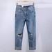 广西来宾批发低价库存尾货牛仔裤清仓5元工厂在广州尾货牛仔裤