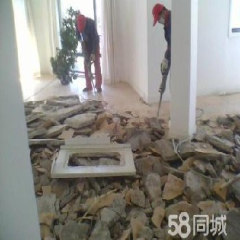 青浦闵行松江专业敲墙打地坪铲墙皮拆吊顶混泥土切割