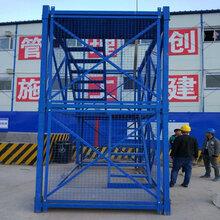 桥梁施工75型香蕉式Z型安全爬梯加强型安全爬梯方管梯笼现货供应图片