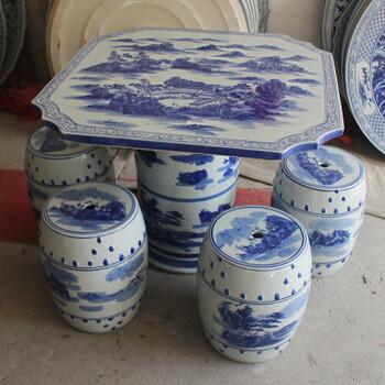 献礼建国七十周年陶瓷鼓凳家居工艺瓷墩梳妆凳换鞋凳家居装饰摆件储物
