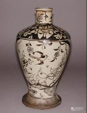 香港温斯顿国际拍卖行丶磁州窑剔花瓶子图片