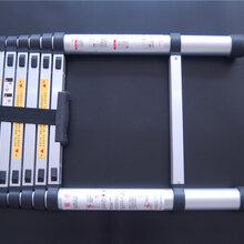 多节伸缩梯铝合金直梯家用多功能工程梯便携折叠伸缩梯图片