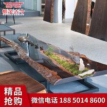 福州哪里有卖实木大板茶桌实木家具图片