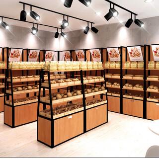 蔬菜货架饰品钛合金展示柜烤漆展柜钢木置物架吧台图片4