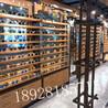 河南眼镜店柜台生态免漆木纹中岛陈列柜展示柜定制