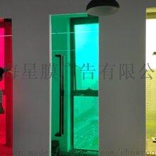 上海玻璃贴膜公司办公室玻璃贴膜腰线排版设计制作图片