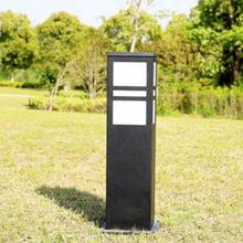 防雨小型太阳能灯草地灯家用天台花园路灯方柱户外夜间柱灯门柱。图片