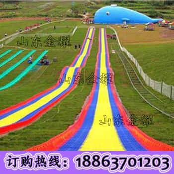 临云照花七彩滑道滑草设备批发滑草滑道安装网红彩虹滑道人造草坪厂家直售