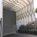 鎮江汽車停車棚圖片,膜結構車棚廠家