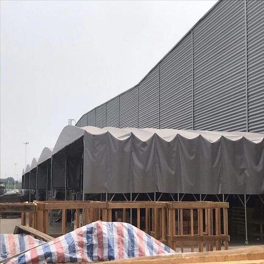 揚州伸縮推拉雨棚圖片,伸縮移動雨棚