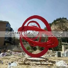 不锈钢抽象雕塑,红色不锈钢雕塑,广场不锈钢雕塑