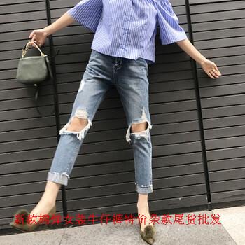 夏季女式牛仔裤批发