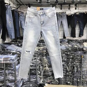 牛仔裤低价处理清仓2到5元库存牛仔裤批发黑龙江牡丹江哪里有适合地摊牛仔裤批发