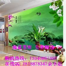 现代瓷砖背景墙uv平板打印机个性定制3D艺术电视背景墙图片
