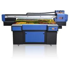 集板材背景墙UV平板打印机艺术玻璃天花板万能uv打印机图片
