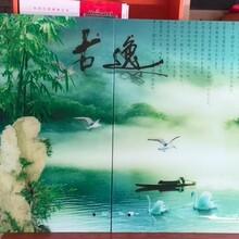 安徽艺术玻璃UV平板打印机价格瓷砖背景墙印刷机厂家直销图片