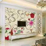 河北艺术玻璃电视背景墙万能喷绘机3D瓷砖UV平板打印机厂家图片