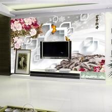 瓷砖石材电视背景墙UV万能平板喷绘打印机立体3D浮雕陶瓷彩绘图片