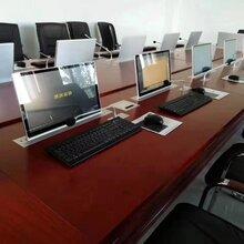 晶固带高清触摸屏会议桌超薄一体式隐藏升降器图片