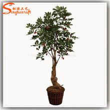 定制精美仿真橄榄树布置景区酒店园林装饰植仿真榕树仿真桃花树