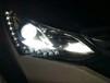 曲靖车灯改装比亚迪宋升级海拉五透镜+白色天使眼+红色恶魔眼