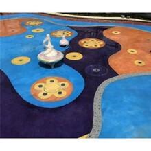 环保砾石聚合物地坪应用于福建南平室内儿童乐园装饰图片