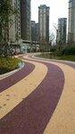 重庆天然胶粘石透水地坪做法和工艺、露骨料透水混凝土