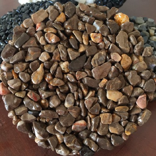 珠海学校胶粘石透水步道彩色胶粘石透水地坪材料供应