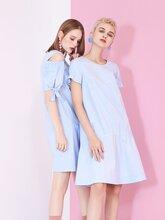 高端成熟印花裙菲格夏装品牌折扣女装走份批发