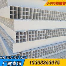 山西PVC格柵管價格4孔格柵管,PVC格柵穿線管價格價格_廠家圖片