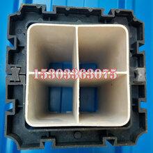 河北厂东森游戏主管直销PVC格栅管管枕107方管枕通信管管卡图片