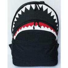 2016新款时尚潮流行风鲨鱼款双肩背包男女潮包爆款双肩书包