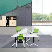 广东培训桌-互动课堂桌椅-会议培训组合条桌定制图片