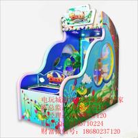 恐龙宝贝投球游艺机,儿童投球游戏机,亲子互动游戏机,投球游艺机台图片